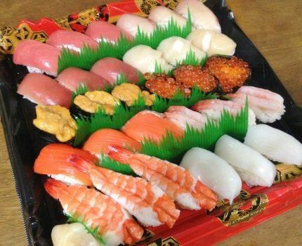 赤身牛肉と寿司