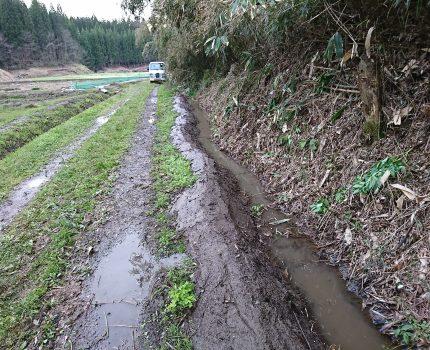 20年放置された用水路の再生